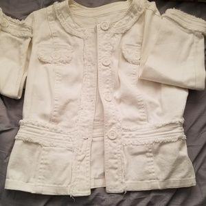 Jackets & Blazers - White jean jacket/blazer
